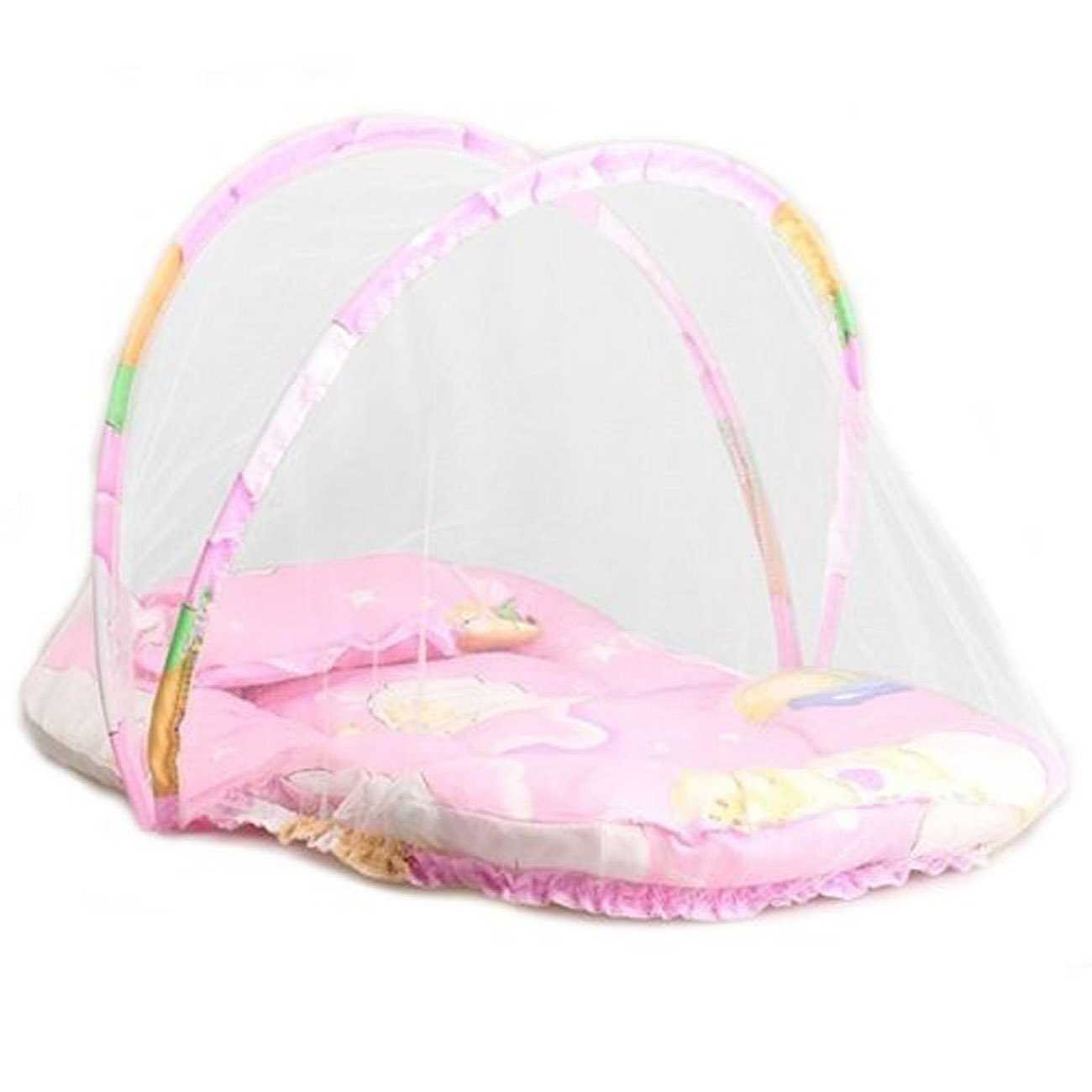 Baby Infant Portable Foldable Travel Bedding Crib Canopy Mosquito Net Tent with Pillow (Blue) CHRONSTYLE