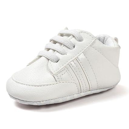 Zapatos De Bebé Botines Zapatillas Deportivas para bebés recién Nacidos Primeros Pasos Zapato de Cuero Antideslizante