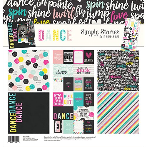 Simple Stories Dance 12x12 Collection Kit (Scrapbooking Stickers Dance)