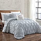 Brooklyn Loom Jackson Pleat Twin Comforter Set in Spa
