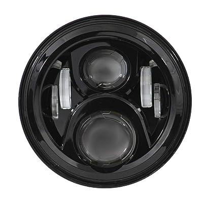 Eagle Lights 8700G2 7 inch Round Generation 2 LED Headlight for Harley Davidson (Black): Automotive