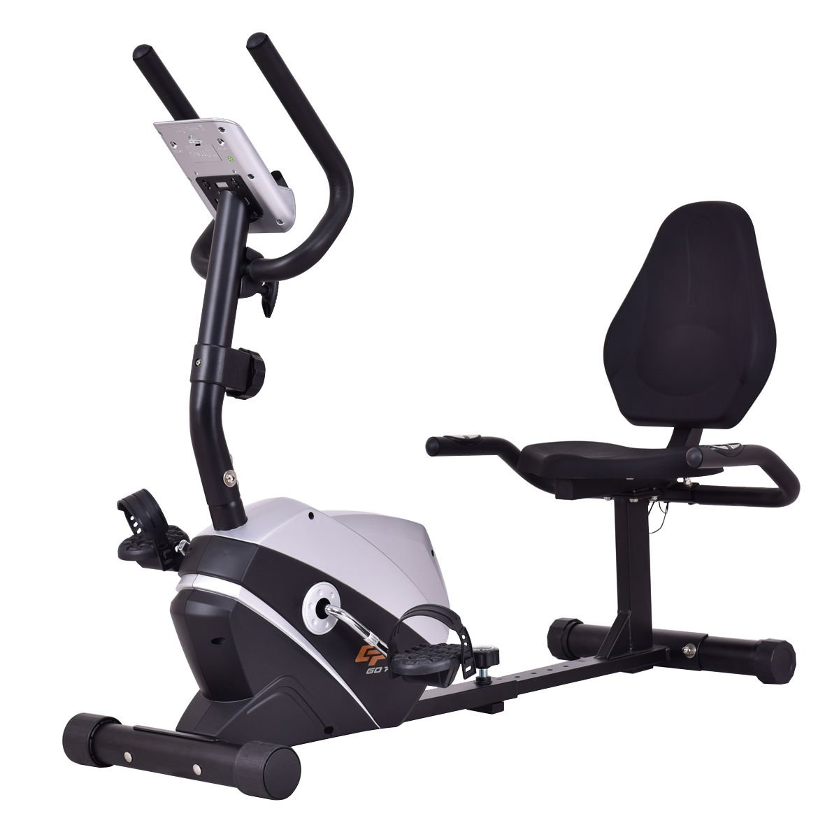 Goplus Magnet Recumbent Bike Exercise Bike Stationary Bicycle Cardio Workout Fitness Bicycle Equipment