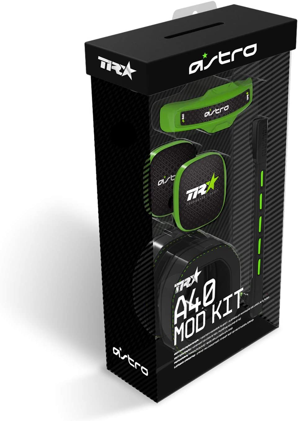 Astro Gaming A40 TR Mod Kit para Auriculares Gaming, Gen 3, Microfóno y Almohadillas con Aislamiento de Ruido, Etiquetas Posteriores Cerradas, Mod Kit ,Verde