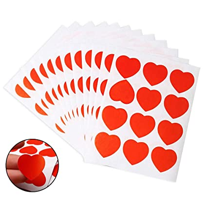 Amazon Red Heart Stickers Eubags Self Adhesive Red Heart