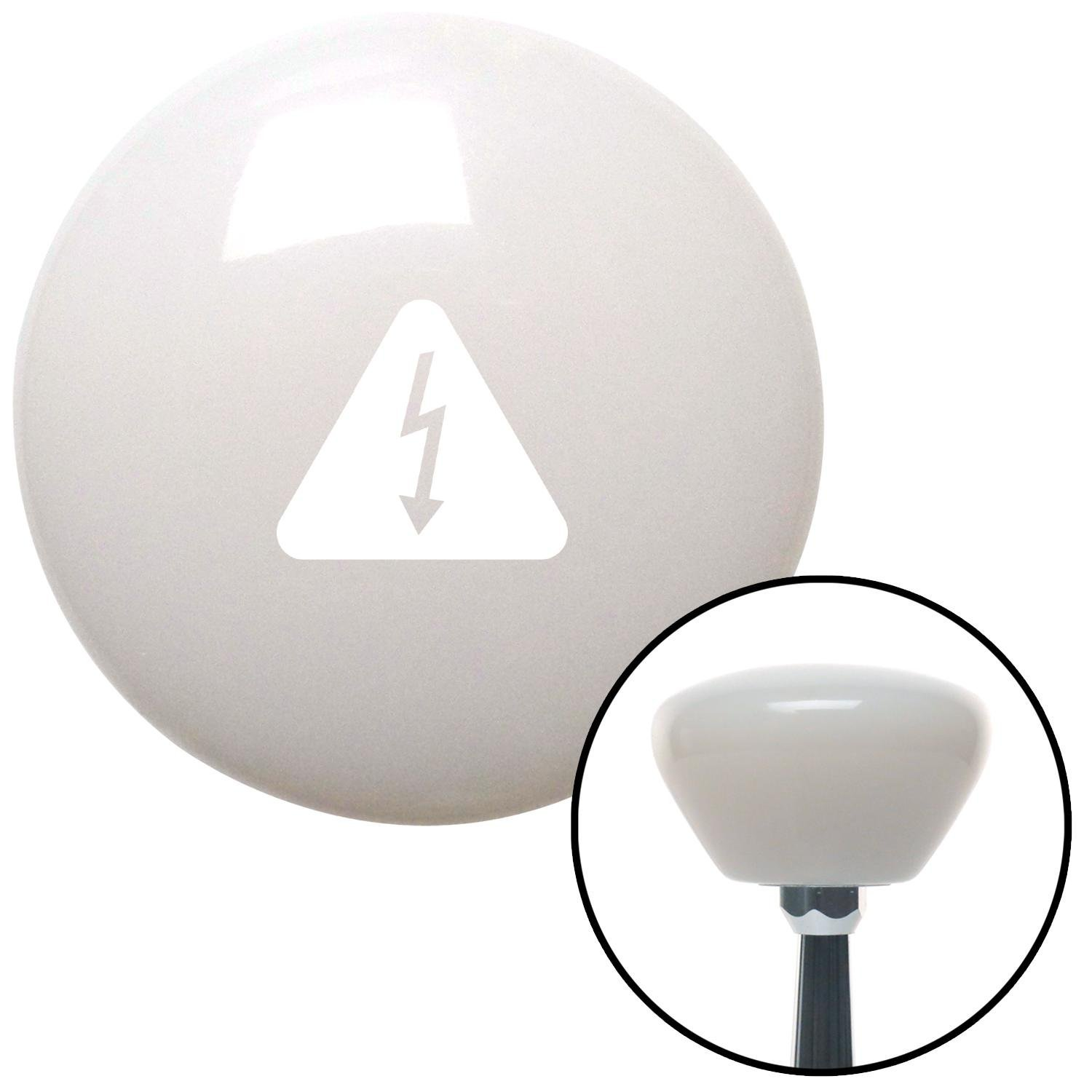 White High Voltage White Retro with M16 x 1.5 Insert American Shifter 279773 Shift Knob