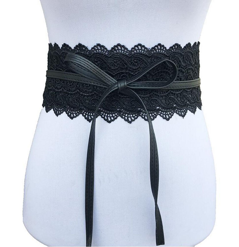 Oyccen Mujeres Cinturones de Encaje Anchos Vestido Decoraci/ón Cintur/ón Bowknot Pretina Faja