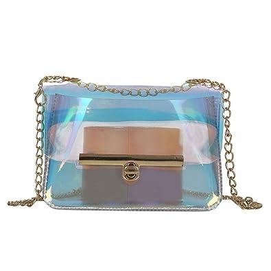 frais frais luxuriant dans la conception comment acheter OHQ Mme Transparent Jelly ChaîNe Laser Petit Sac BandoulièRe ...