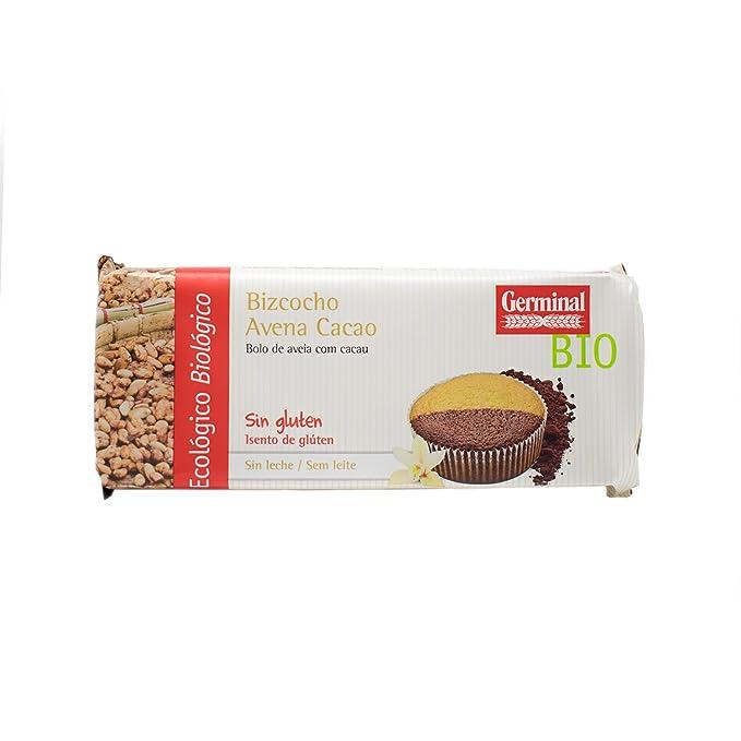 Germinal Bizcocho de Avena Cacao Sin Gluten - Paquete de 12 x 180 gr - Total