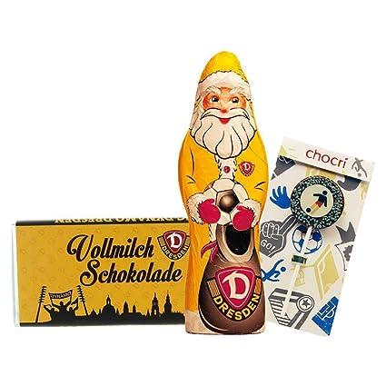 + Fussball-Schoko-Lolly Nervennahrung von chocri 250 g Nikolaus Bundle mit Weihnachtsmann Kleines Weihnachts-Schoko-Fanpaket und Schoko-Tafel aus Fairtrade-Kakao 22 g 1. FSV Mainz 05
