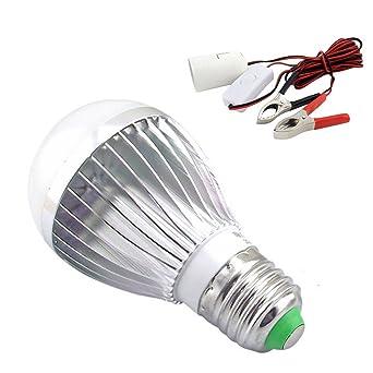 Bonlux 7W 12V LED Kit Bombilla Solar Blanco Fresco 6000K Tornillo ES E27 LED Lámpara para