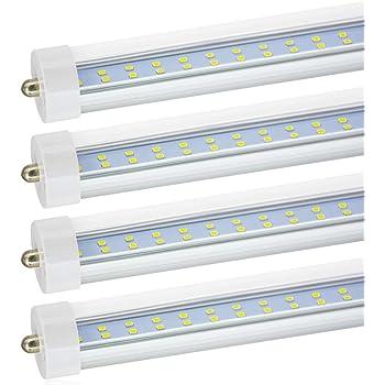 CNSUNWAY LIGHTING T8 T10 T12 8ft LED Bulbs, 45W(100W Equiv.), Dual ...