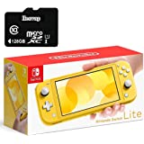 "Newest Nintendo Switch Lite Game Console, 5.5"" Touchscreen, Built-in Plus Control Pad, Yellow, W/ 128GB Micro SD Card, Built-in Speakers, 3.5mm Audio Jack"