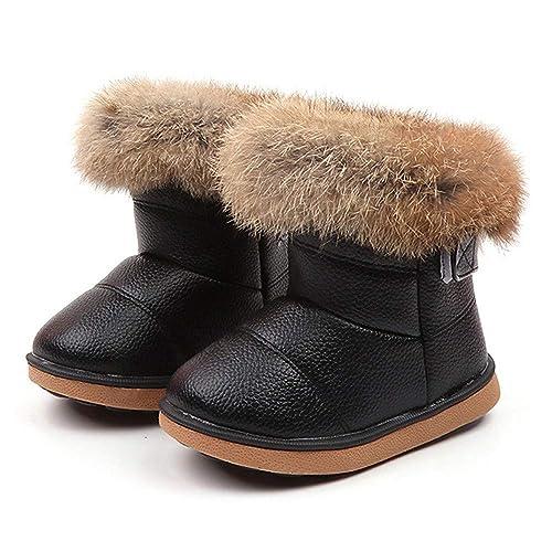 more photos ae9b3 9545c BZLine® Baumwolle Lederschuhe Winter Baby Jungen Mädchen Kind Martin  Stiefel warme Schuhe