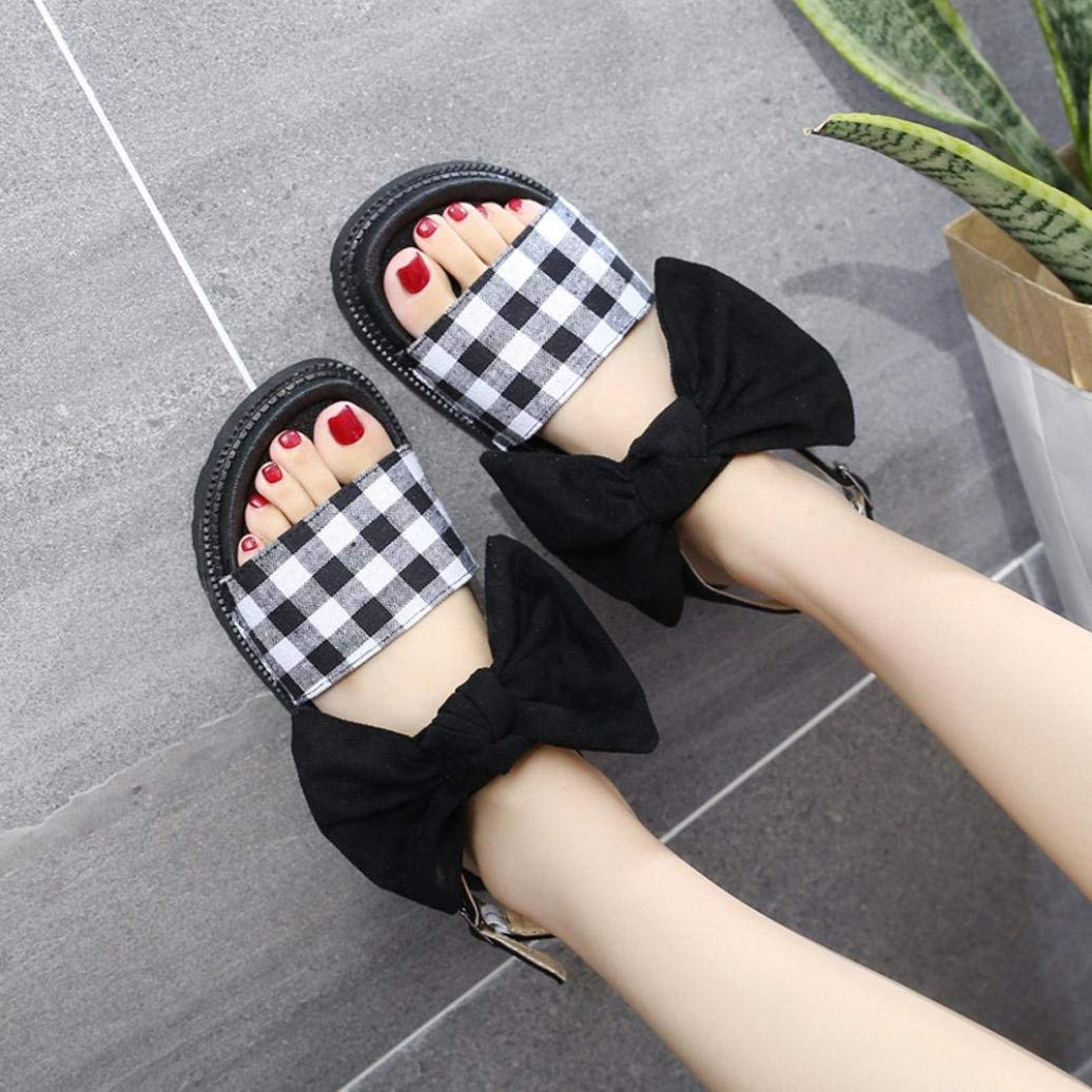 Lady Sandals Women Fashion Bow Hasp Round Toe Thick Bottom Flatform Shoes Sandals Leisure Elegant Cosy Wild Tight Super Quality for Womens