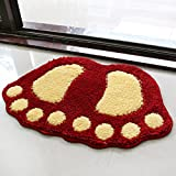 Water bath mat household mats toilet door mat -4060cm Red