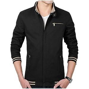 ジャケット メンズ アウター トップス コート カジュアルジャケット おしゃれ ブルゾン メンズファッション 秋 冬 春(ブラック 黒、S)