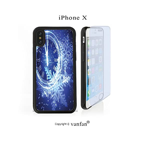 iphone x case vanfan iphone x10 case new year theme a clock