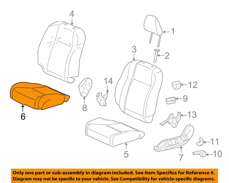 Honda Genuine 81131-TR6-L81ZA Seat Cushion Trim Cover Right Front