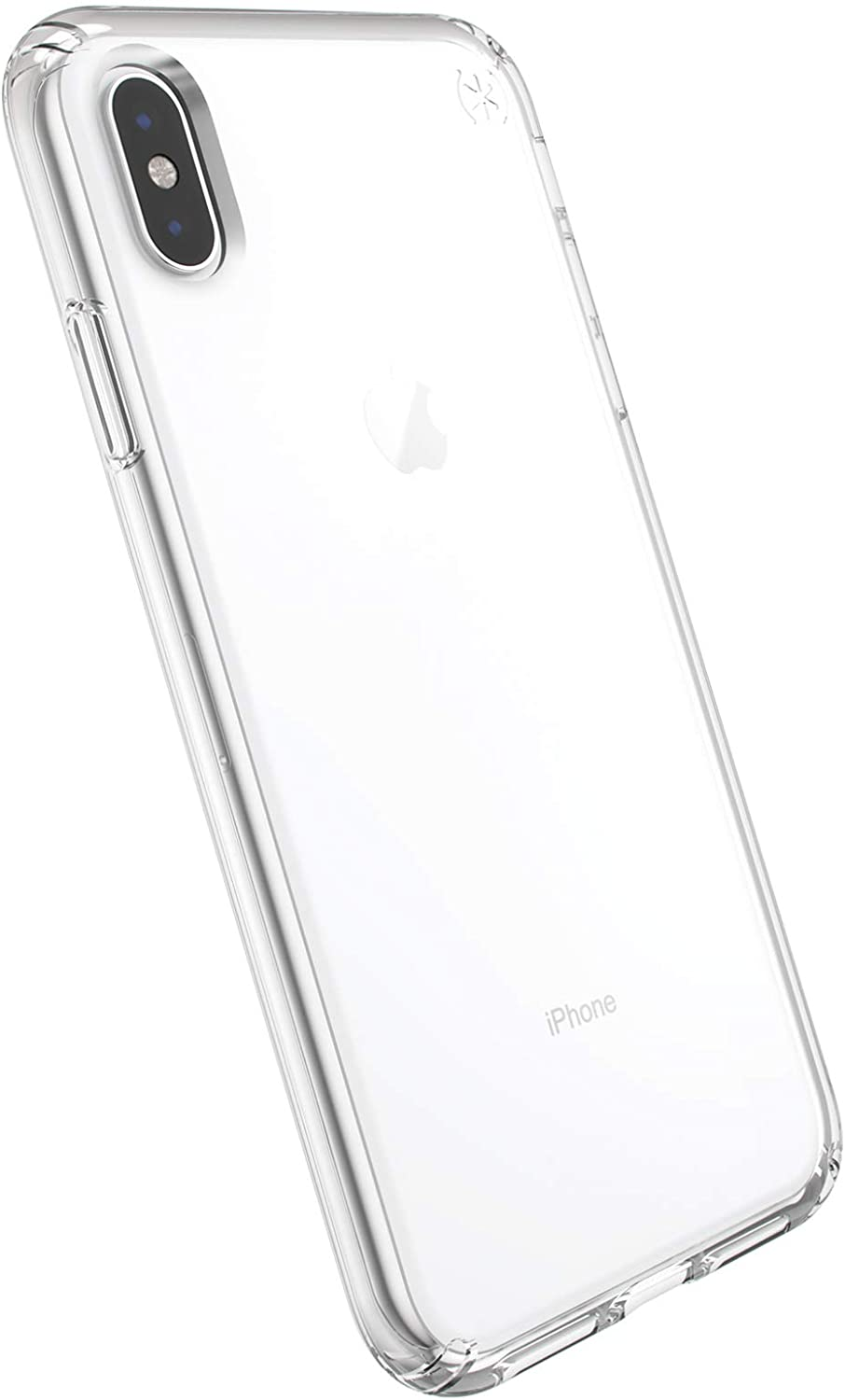Speck Products Compatible Phone Case for Apple iPhone XR, Presidio Stay Clear Case, Clear/Clear (119390-5085)