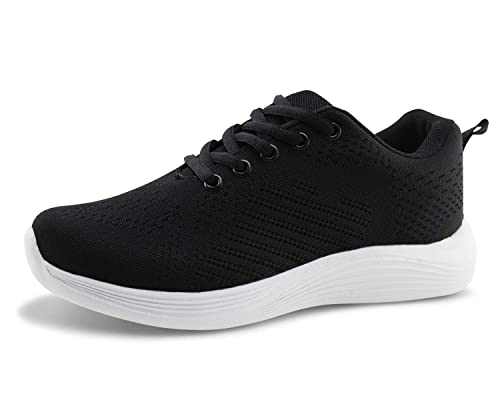 4a0b2c740ed3a Jabasic Women Breathable Running Sneakers Lightweight Knit Mesh Walking  Shoes