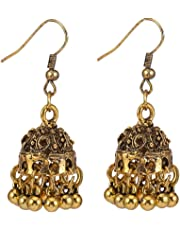 Baoblaze Indian Vintage Bollywood Gypsy Birdcage Dangle Earrings Traditional Jhumka Jhumki Earrings for Women and Girls