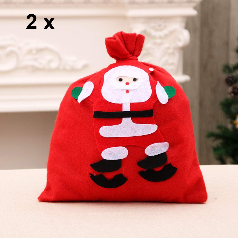 VEVIK Santa Sack Weihnachtsmann Tasche Weihnachtssack Geschenkesack mit Kordelzug Nikolaussack Geschenkt/üte Weihnachtsdekoration