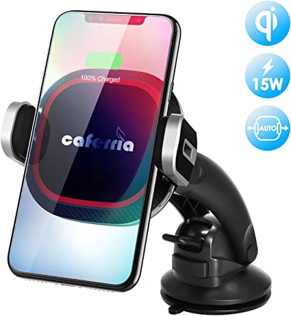 HTC WINDFRD Wireless Car Charger Fast Charging 15W//10W//7.5W//5W Qi QC 3.0 Dashboard//Windshield//Air Vent Car Phone Mount Holder for iPhone Samsung Huawei Google Moto LG etc.