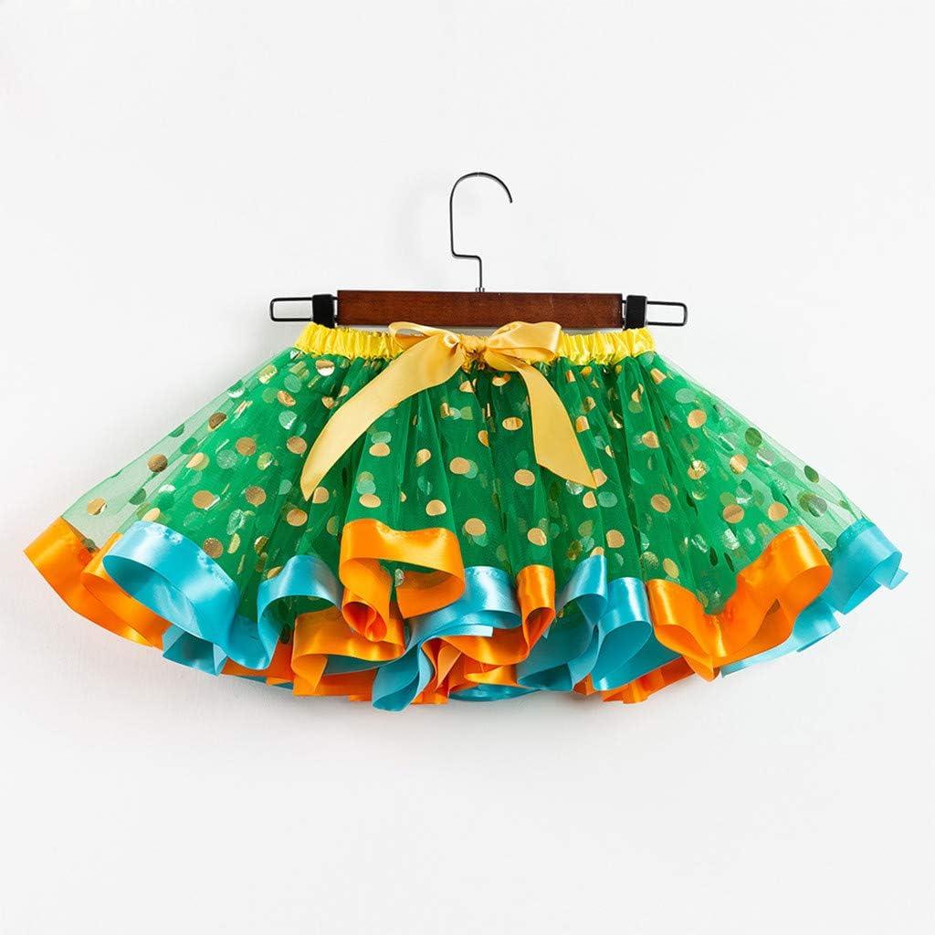 Summer Girls Beach Rainbow Dress Girls Sleeveless Sling Perform Party Chiffon Tutu Dress haoricu Girls Dresses