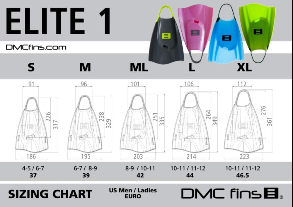 DMC Elite Silicone Water Fins for Swim and Training