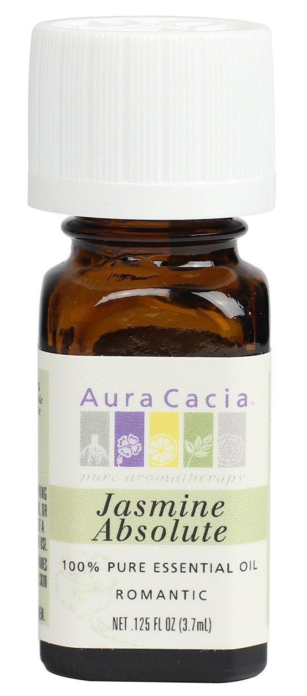 Aura Cacia Essential Oil, Romantic Jasmine Absolute, 0.125 fluid ounce