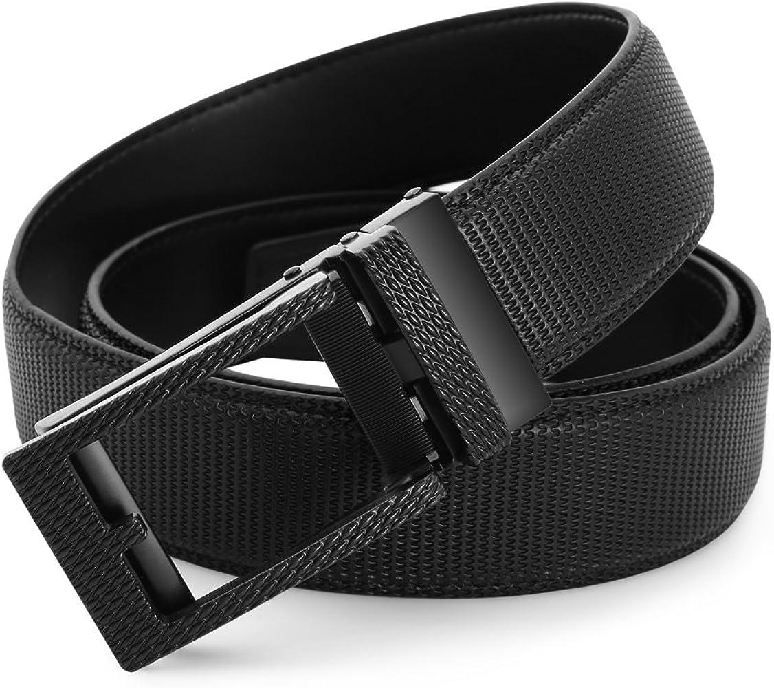 BESTKEE Cinturón de Cuero para Hombre, Cinturones de Vestir ...