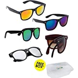 ELLIGATOR UV Protected Combo of Unisex Sunglasses (3, Multicolour)