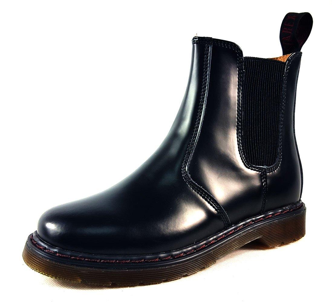 Chelsea-Stiefel aus Kunstleder Damen für Damen Kunstleder mit 8 Schnürlöchern, hochwertig, Kunstleder, schwarz 1, UK 4   EUR 37 a8cc4f