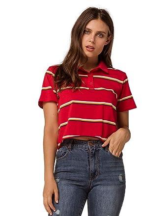 b32de3bf6f2 Full Tilt Stripe Navy Crop Polo Tee at Amazon Men s Clothing store
