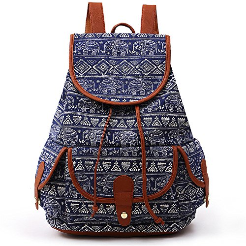 VESNIBA LLC Fashion Bags Canvas Backpack For Women Girls Boys Casual Book Bag Sports Day Pack (Designer Miu Bags Miu)