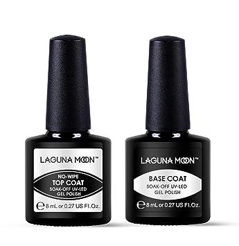 Amazon.com : Lagunamoon Gel Nail Polish Soak Off UV LED Gel Base ...