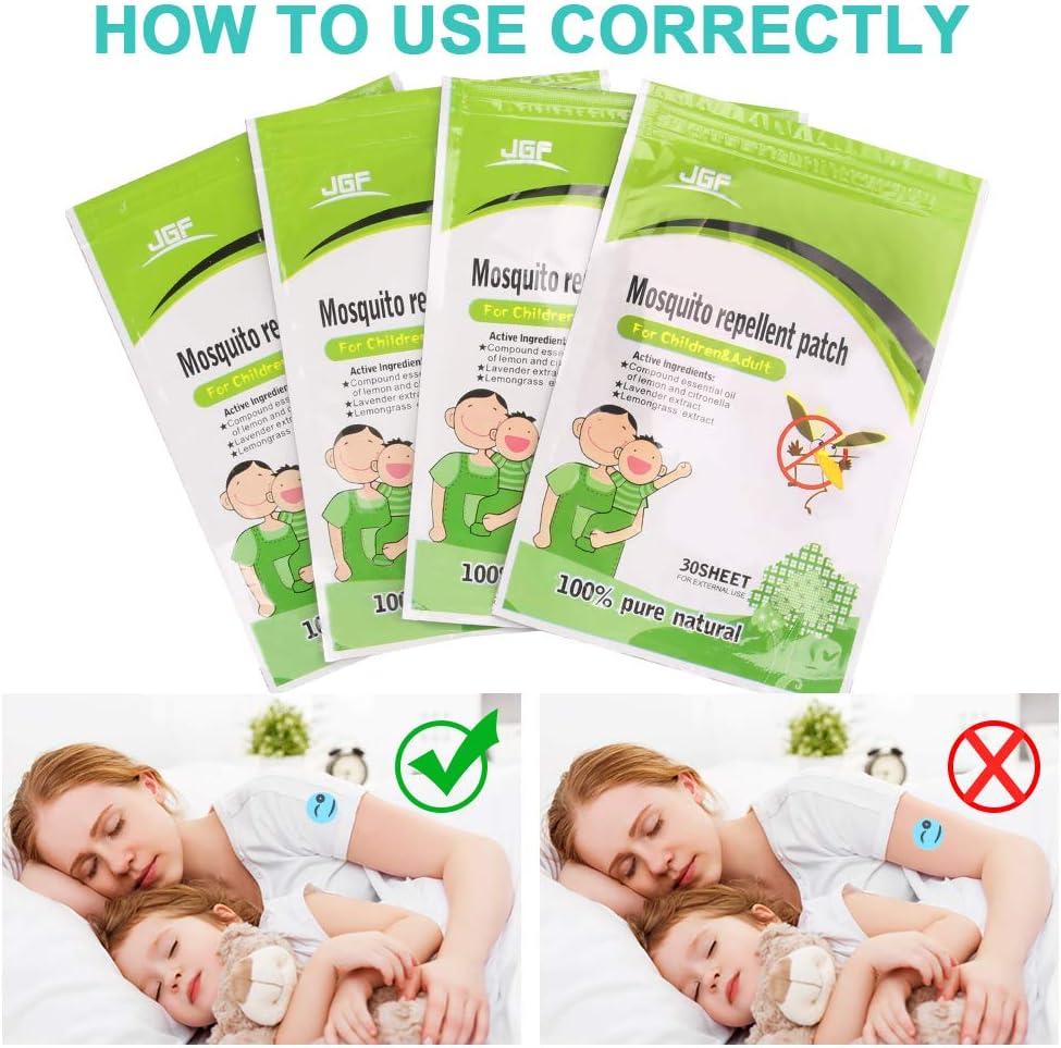 120 Pezzi Naturale Non tossico Repellente per zanzare cerotti Adesivi per Bambini Adulti Mantiene Insetti Bugs Lontano per Casa Campeggio VZATT Anti-zanzare Patches