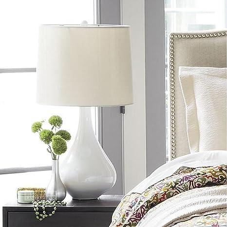 Lampada da tavolo in ceramica - Lampada da comodino per camera da ...