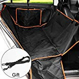 Pet Car Seat Cover Waterproof Nonslip Dog Seat Cover with Hammock 600D Heavy Duty Durable Machine Washable for Trucks SUVs