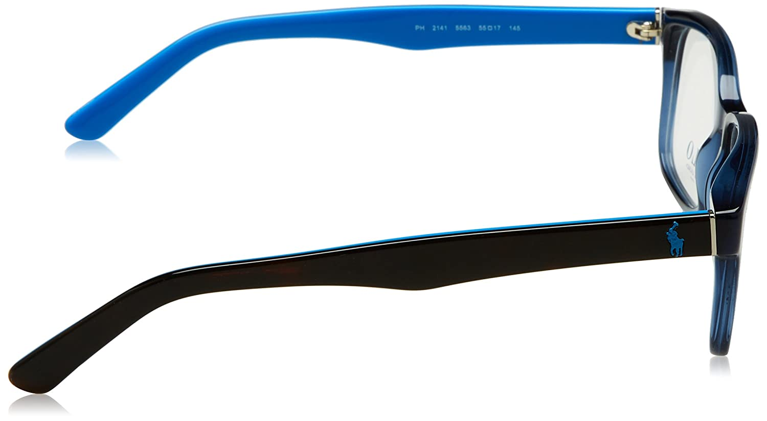 21e892e5fbcd Polo PH2141 Eyeglass Frames 5563-55 - Trasparent Blue PH2141-5563-55 at  Amazon Men s Clothing store