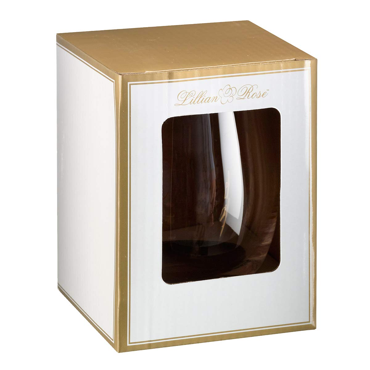 Lillian Rose G115 MH Gold Maid of Honor Stemless Wine Glass, Height 4.75 inches by Lillian Rose (Image #3)