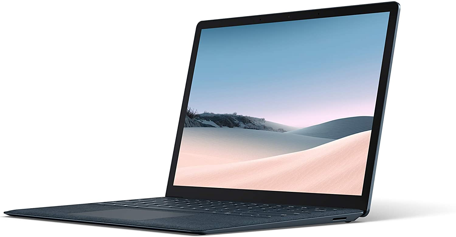 """Microsoft Surface Laptop 3 – 13.5"""" Touch-Screen – Intel Core i5 - 8GB Memory - 256GB Solid State Drive (Latest Model) – Cobalt Blue with Alcantara (Renewed)"""