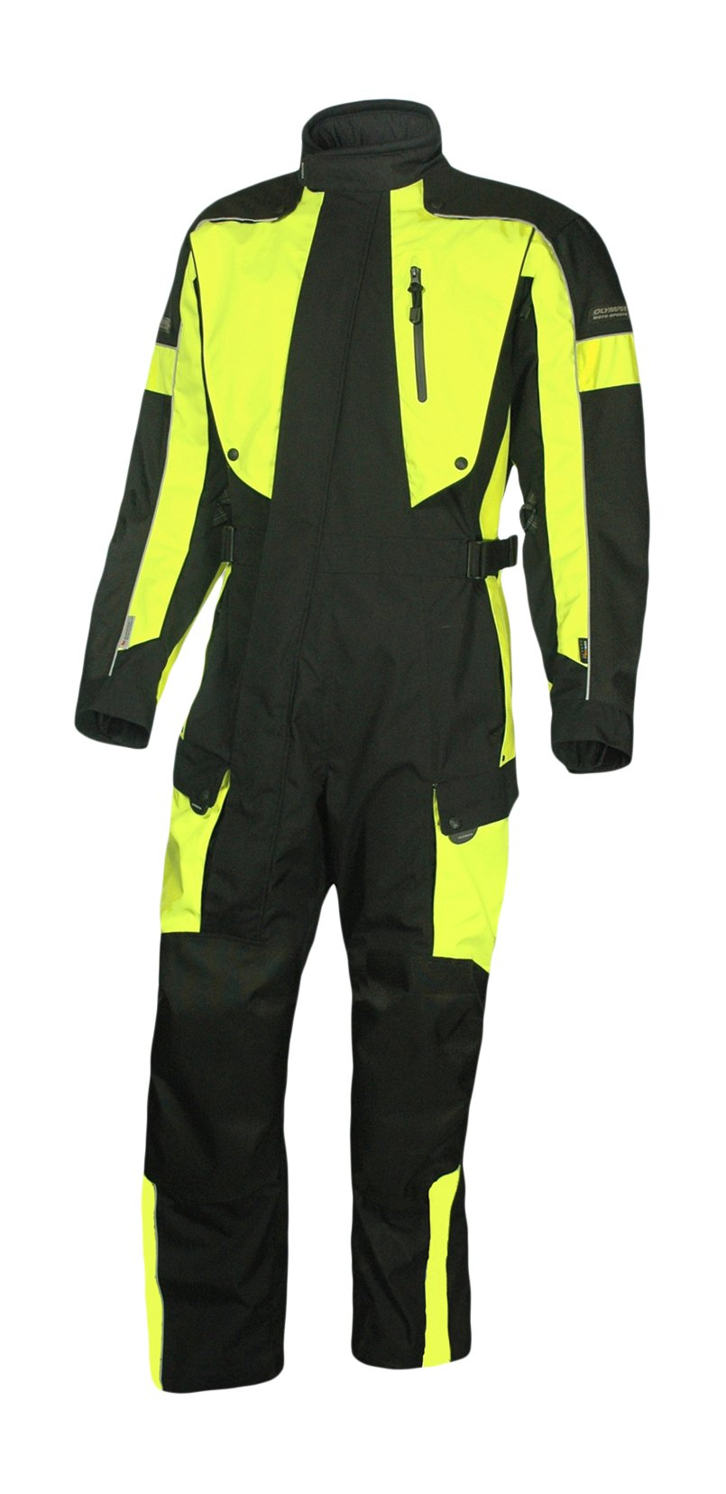 Olympia Moto Sports Men's Odyssey Vent Tech Suit (Black/Neon Yellow, Large) by Olympia Moto Sports