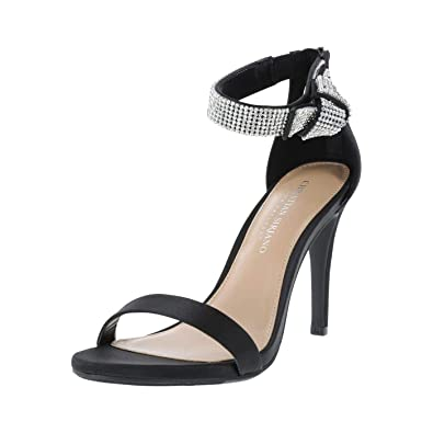4bac48ed9a Christian Siriano for Payless Black Women's Collins Jewel Dress Sandal 5  Regular