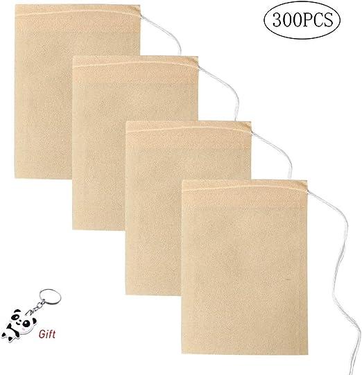 Yuanzi - Bolsas de té Desechables de Papel Biodegradable: Amazon ...