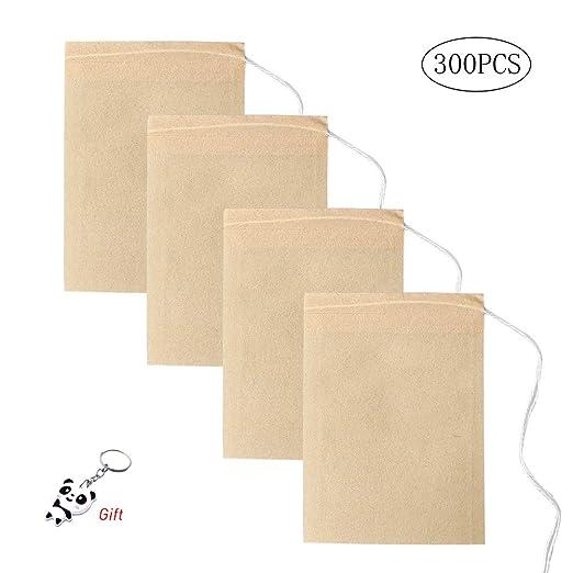 Yuanzi - Bolsas de té Desechables de Papel Biodegradable ...