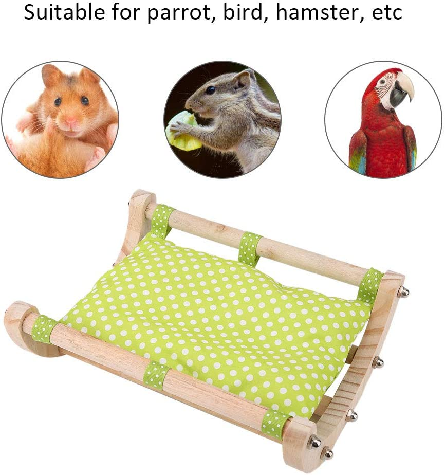 HEEPDD Hamster Swing Bed, Mouse Madera Algodón Calentamiento del Nido Pequeña Mascota Actividad Juguete Puente para Hamster Ardilla Hurón Chinchilla Conejillo de Indias Ratones Rata (Verde): Amazon.es: Productos para mascotas