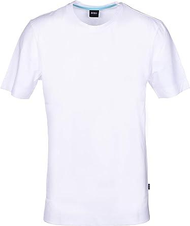 Hugo Boss - Camiseta de cuello redondo blanco XS: Amazon.es: Ropa y accesorios