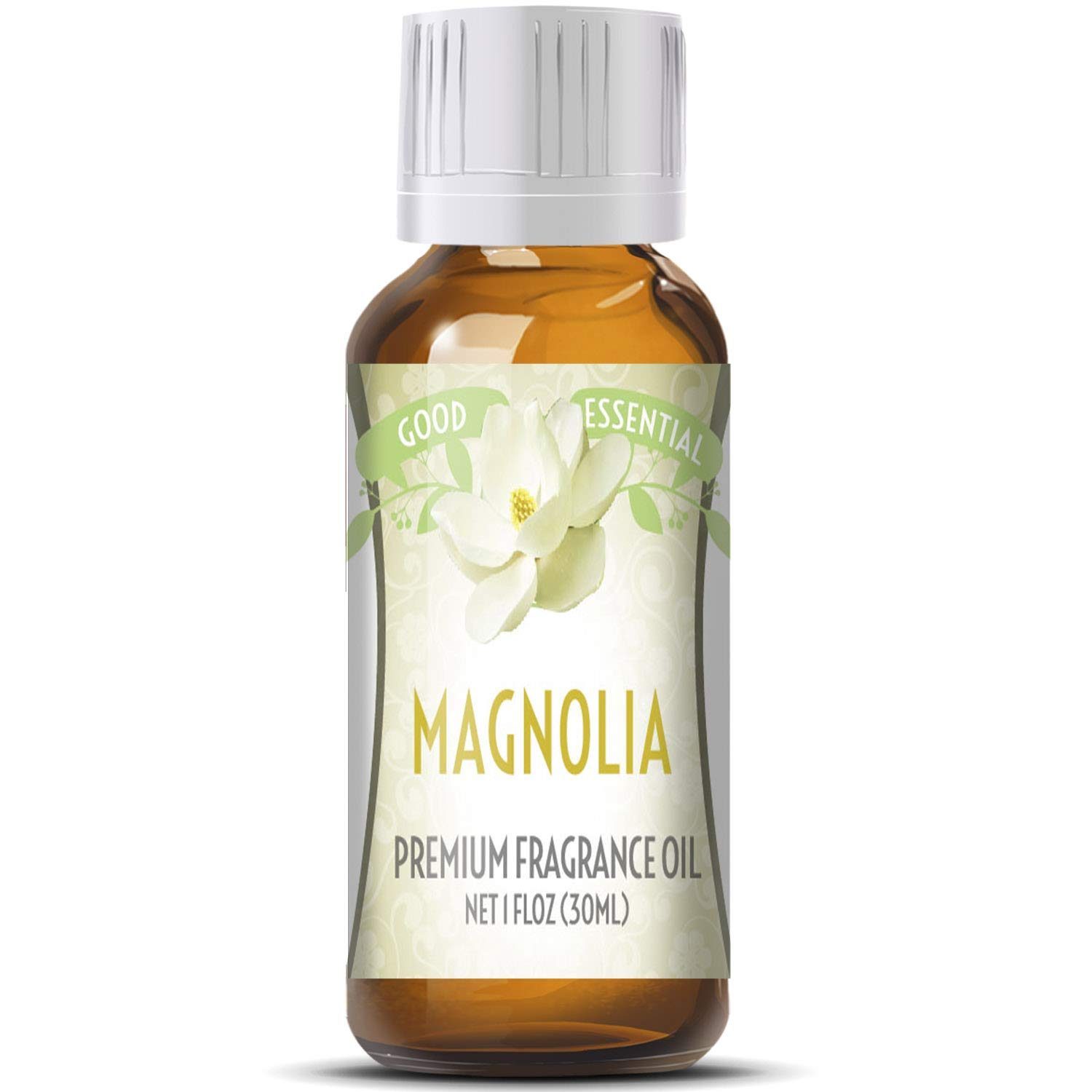Magnolia Scented Oil by Good Essential (Huge 1oz Bottle - Premium Grade Fragrance Oil) - Perfect for Aromatherapy, Soaps, Candles, Slime, Lotions, and More!