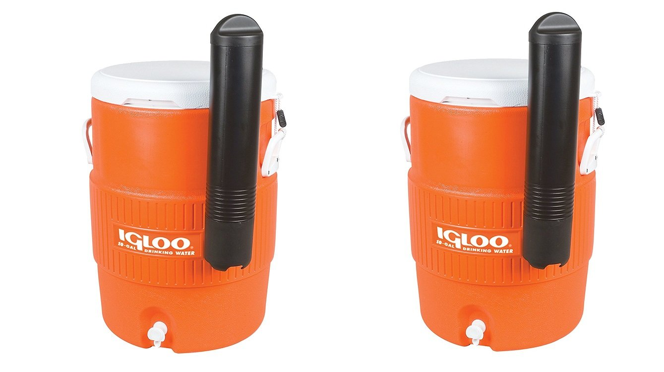 Igloo 10 Gallon Seat Top Beverage dispenser with spigot and Cup Dispenser (Pack of 2)